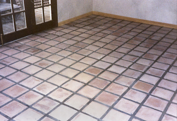 Saltillo Pavers - Stripped, Whitewashed and Sealed - West Hollywood, California